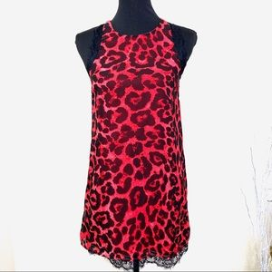Tobi Animal Print Shift Dress